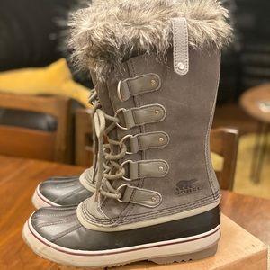 Sorel Waterproof Joan Of Arctic Quarry/black Boots